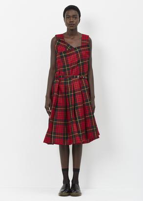 Comme des Garcons red black tarten pleat dress $2,182 thestylecure.com