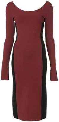 Diane von Furstenberg fitted colour block dress