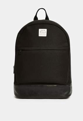 Jack Wills Portbury Black Backpack