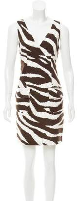 MICHAEL Michael Kors Michael Kors Sleeveless Zebra Print Dress