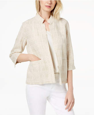 Eileen Fisher Organic Cotton Open-Front Blazer, Regular & Petite