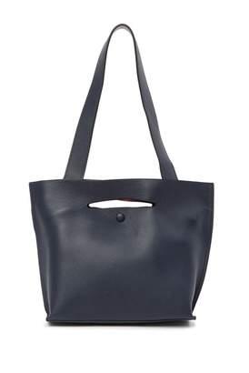 Sondra Roberts Colorblock Leather Tote Bag