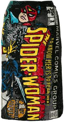 Olympia Le-Tan Spider-Woman embroidered skirt