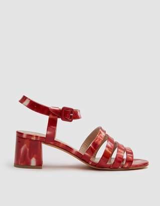 Maryam Nassir Zadeh Palma Low Patent Sandal in Ruby Sparkle Tortoise