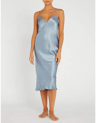 Issa Olivia Von Halle silk slip dress