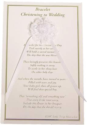 Little Things Mean a Lot Girls Christening to Wedding Bracelet