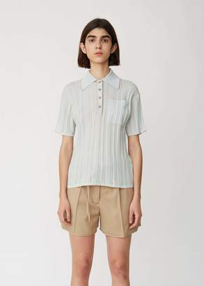 Acne Studios Karina Knit Polo Top