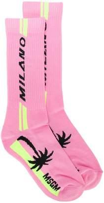 MSGM palm-tree logo socks
