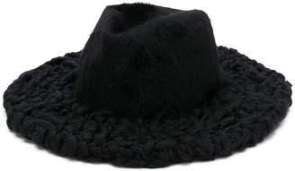 Giorgio Armani knitted brim trilby