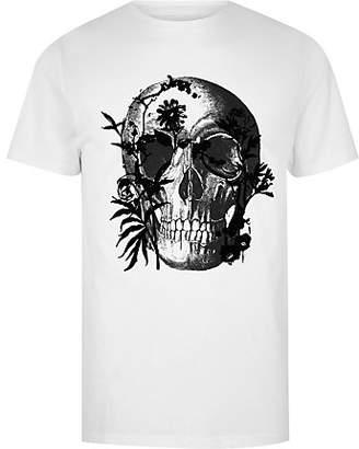 River Island Mens Big and Tall skull print slim fit T-shirt