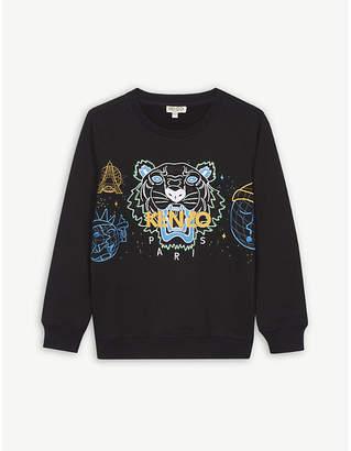 Kenzo Cosmic tiger cotton-blend sweatshirt 4-16 years