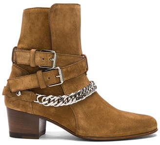 Amiri Chain Buckle Suede Boots