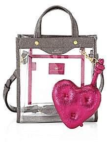 Anya Hindmarch Women's Mini Clear Heart Market Tote Bag