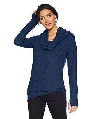Michael Stars Women's Madison Brushed Jersey Long Sleeve Convertible top