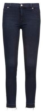 HUGO Boss Extra-slim-fit stretch-denim jeans open hems 30/32 Dark Blue