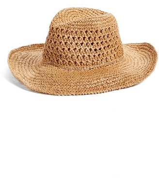 Women's Hinge Paper Straw Cowboy Hat - Beige $39 thestylecure.com