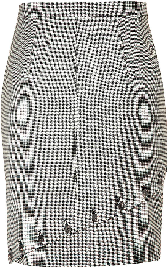 McQ by Alexander McQueen Button Embellished Skirt