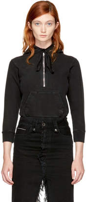 Unravel Black Terry Zip Hoodie Bodysuit