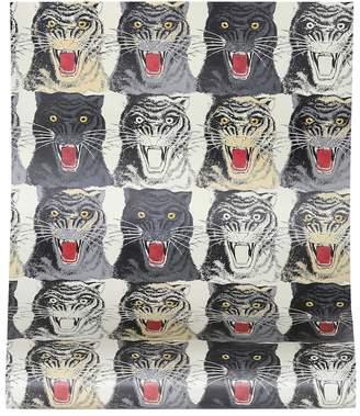 Gucci Tiger Face printed wallpaper