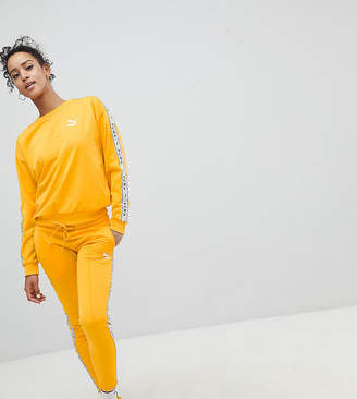Puma Exclusive To ASOS Taped Side Stripe Track Pants In Yellow