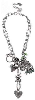 Dannijo Marjoram Oxidized Sterling Silver Crystal Necklace