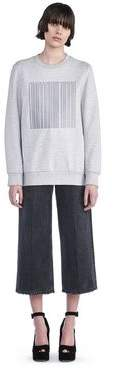 Alexander Wang Oversized Sweatshirt With Barcode Embroidery