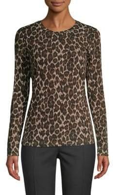 Max Mara Moda Leopard Print Knit Top