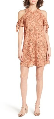 Women's Soprano Cold Shoulder Lace Dress $49 thestylecure.com