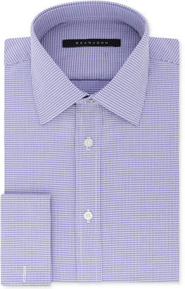 Sean John Men's Big and Tall Classic/Regular Fit Purple French Cuff Dress Shirt