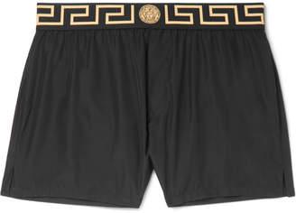Versace Slim-Fit Short-Length Logo-Trimmed Swim Shorts