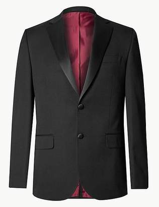 Marks and Spencer Big & Tall Black Regular Fit Jacket