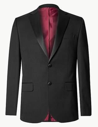 Marks and Spencer Big & Tall Black Regular Fit Jacket
