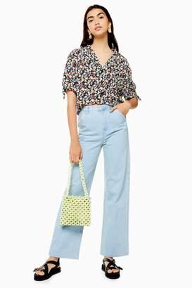 Topshop Womens Bleach Trouser Style Jeans - Bleach Stone