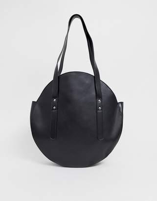 9f56384d6762f Asos Design DESIGN circle shopper bag with hardware detail