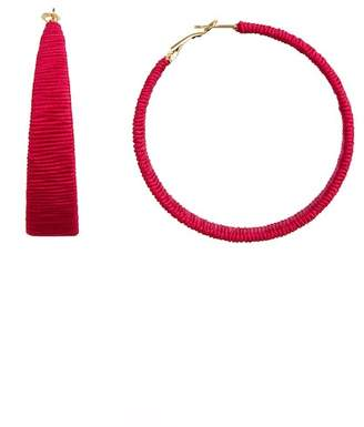 Suzanna Dai Suzie by Cord Wrapped 61mm Hoop Earrings
