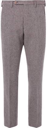 Gucci Birdseye Wool-Blend Trousers