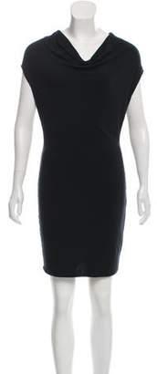 Helmut Lang HELMUT Wool-Blend Cowl Neck Dress