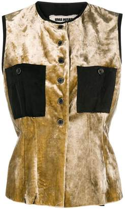 Uma Wang velvet buttoned waistcoat