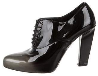 Prada Ombré Patent Leather Booties
