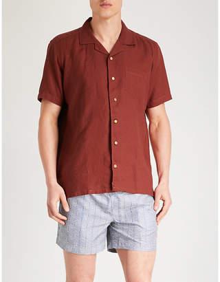 AFIELD Pocket-detail regular-fit linen shirt