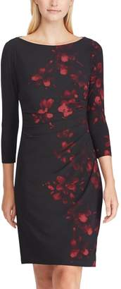 Chaps Women's Floral Ruched Sheath Dress