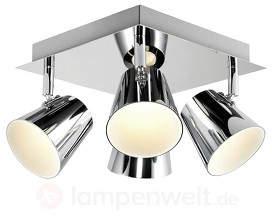 Torsion - quadratische LED-Deckenlampe, 4fl.