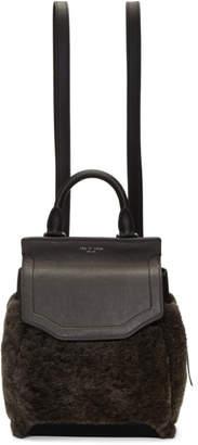 Rag & Bone Grey Shearling Small Pilot II Backpack