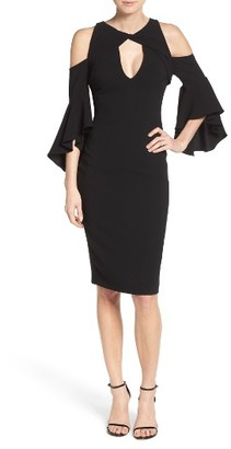 Women's Shoshanna Varennes Cold Shoulder Midi Dress $395 thestylecure.com