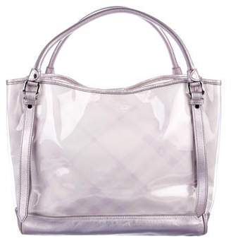 Burberry PVC Supernova Check Tote
