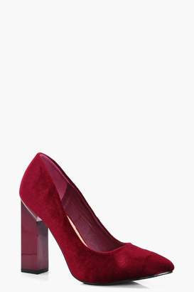 boohoo Pointed Toe Block Heel Court Shoes