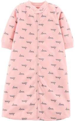 "Carter's Baby Girl Microfleece ""Love"" Sleep Bag"