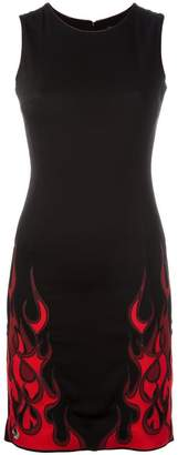 Philipp Plein flame print mini dress