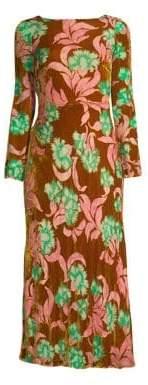 Saloni Tina Velvet Scoop-Back Dress