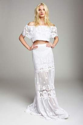 Miguelina Clarity Hibiscus Lace Skirt